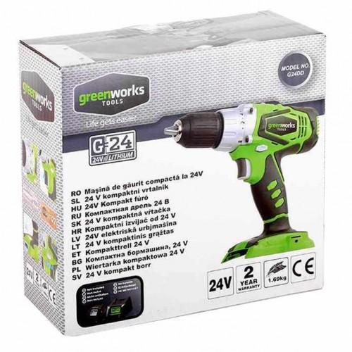 Дриль-шуруповерт акумуляторний Greenworks G24DD без АКБ і ЗП