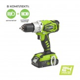 Дриль-шуруповерт акумуляторний Greenworks G24DDK2