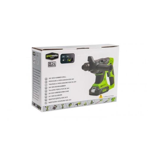 Перфоратор акумуляторний Greenworks G24HD без АКБ і ЗП