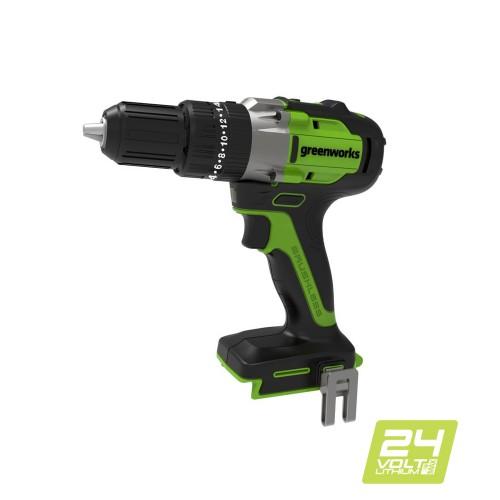 Дриль-шуруповерт ударний акумуляторний Greenworks GD24DD60 без АКБ і ЗП
