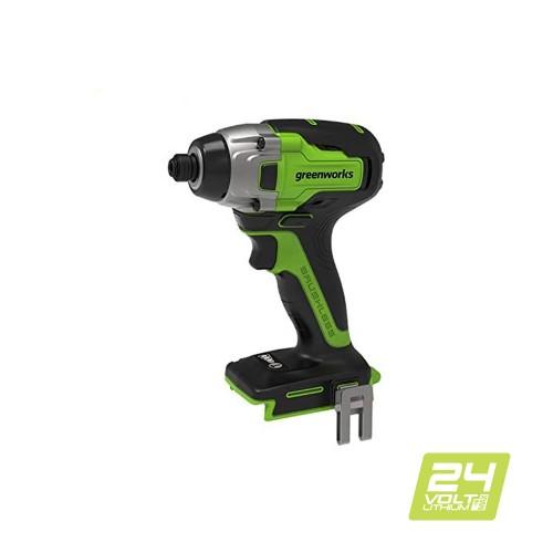 Гвинтоверт ударний акумуляторний Greenworks GD24ID3 без АКБ і ЗП