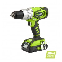 Дриль-шуруповерт ударний акумуляторний Greenworks G24CD