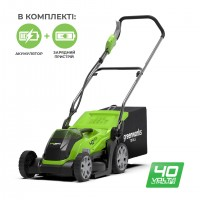 Газонокосарка акумуляторна Greenworks G40LM35K2