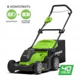 Газонокосарка акумуляторна Greenworks G40LM41K2