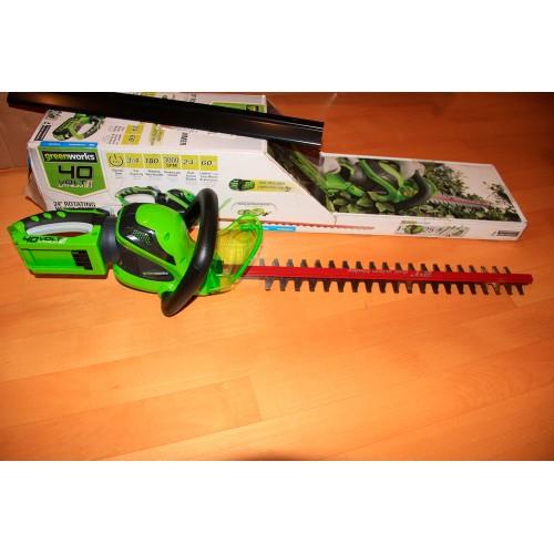 Кущоріз акумуляторний Greenworks G40HT61 без АКБ і ЗП (вітринний зразок)
