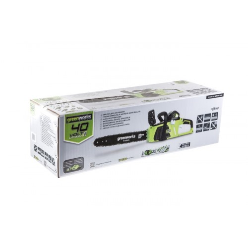 Ланцюгова пила акумуляторна Greenworks GD40CS40K2 з 2 АКБ 2 Ah і ЗП