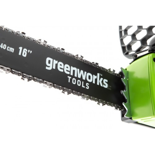 Ланцюгова пила акумуляторна Greenworks GD40CS40K4 з АКБ 4 Ah і ЗП