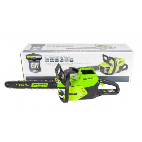 Ланцюгова пила акумуляторна Greenworks GD60CS40K2 з АКБ 2 Ah і ЗП
