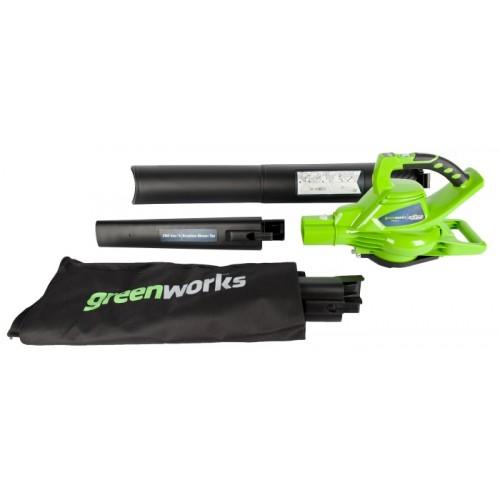 Повітродув-пилосос акумуляторний Greenworks GD40BV без АКБ і ЗП
