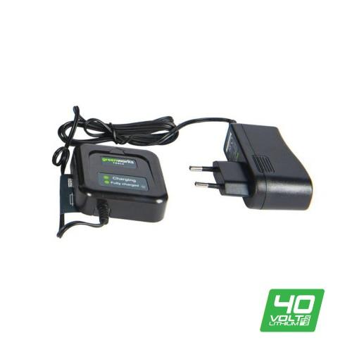 Зарядний пристрій-слайдер Greenworks G40C без АКБ